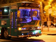 Sometimes your bus in Buenos Aires looks like a disco. And it is amazing.
