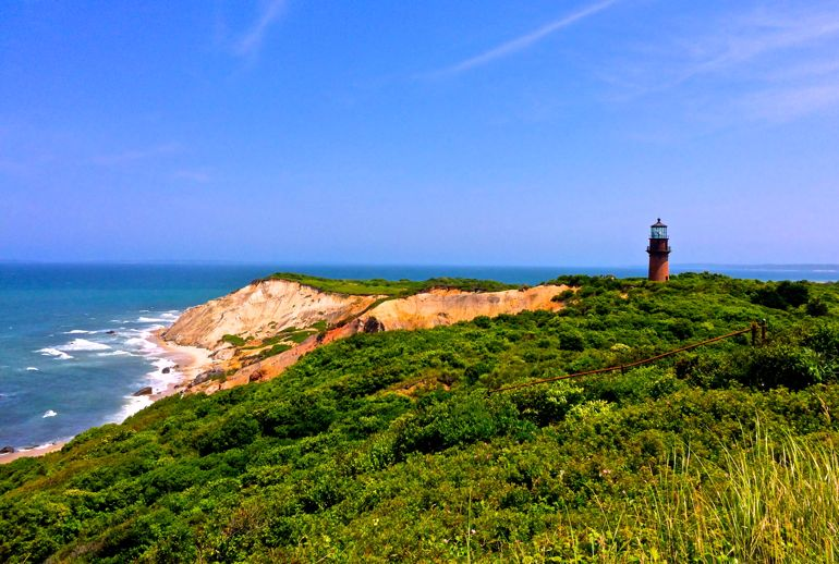 Aquinnah Cliffs and Gay Head Lighthouse
